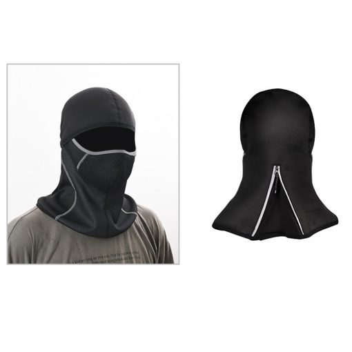 TBF Outdoor Riding Face Mask With Reflective ZipTBF Outdoor Riding Face Mask With Reflective Zip 4