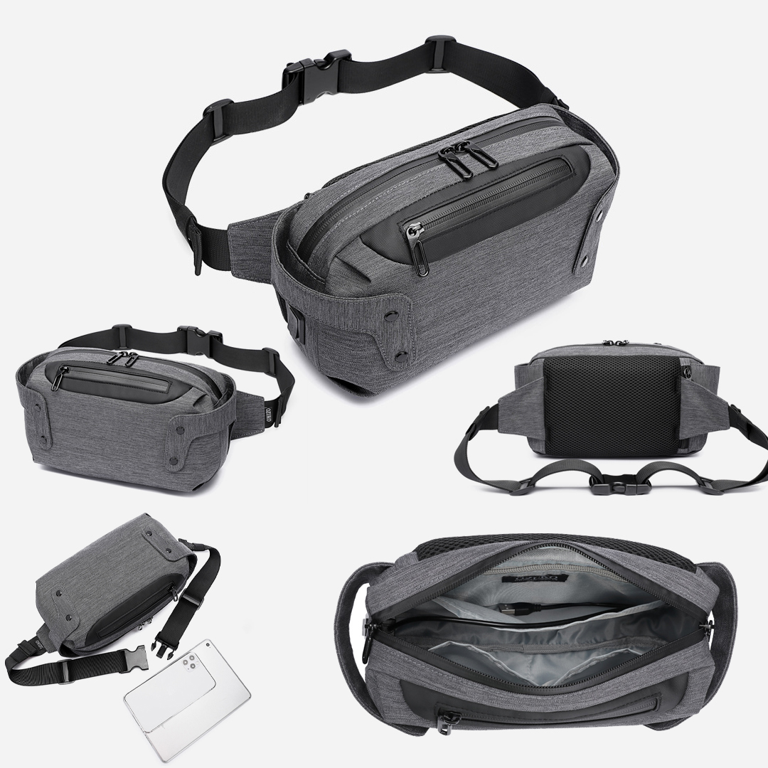 TBF Ozuko Outdoor Sling Bag, water-resistant, lightweight, durable, strong zippers, TBF, Fashionable, multi-pocket