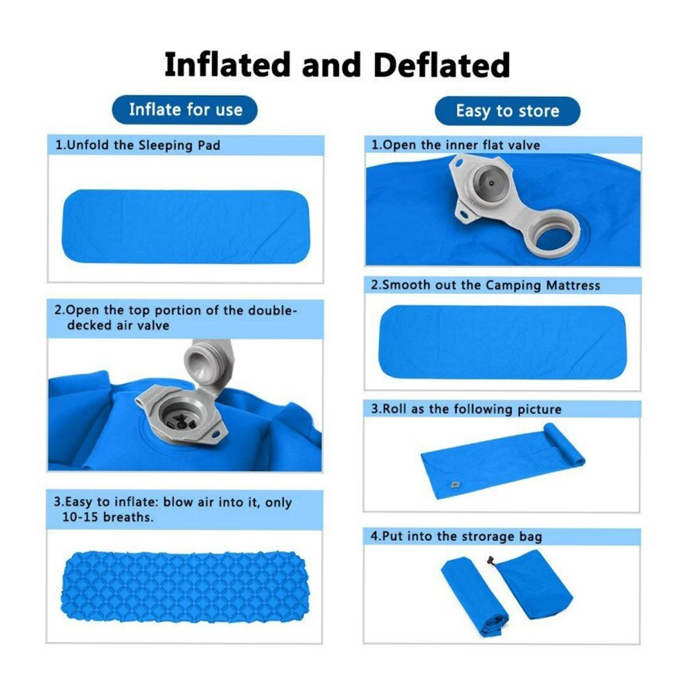 TBF Inflatable and Portable Sleeping Mattress, comfortable, camping, hiking, mattress, easy to store
