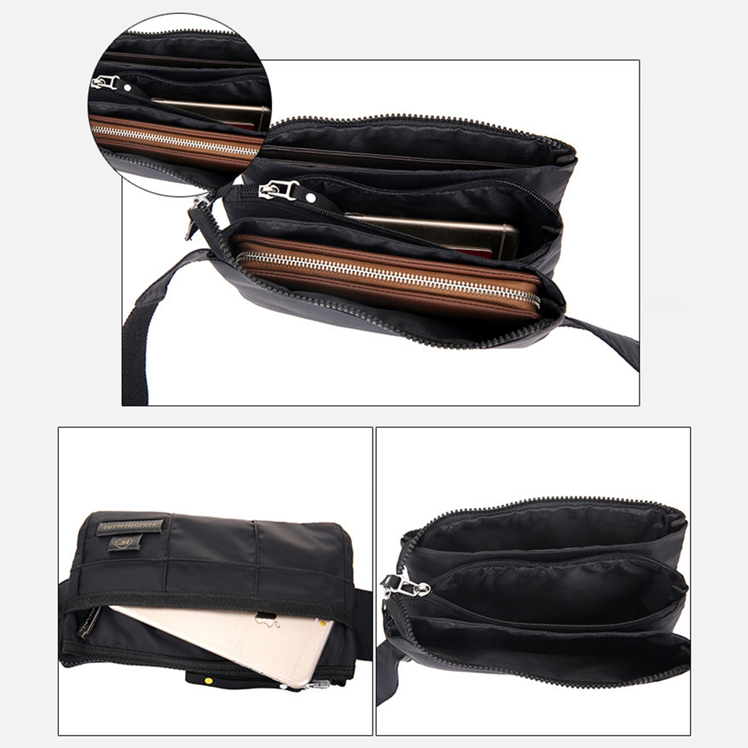 TBF Waist Pouch with Multi-pocket, water-resistant, strong zipper, fashionable, adjustable