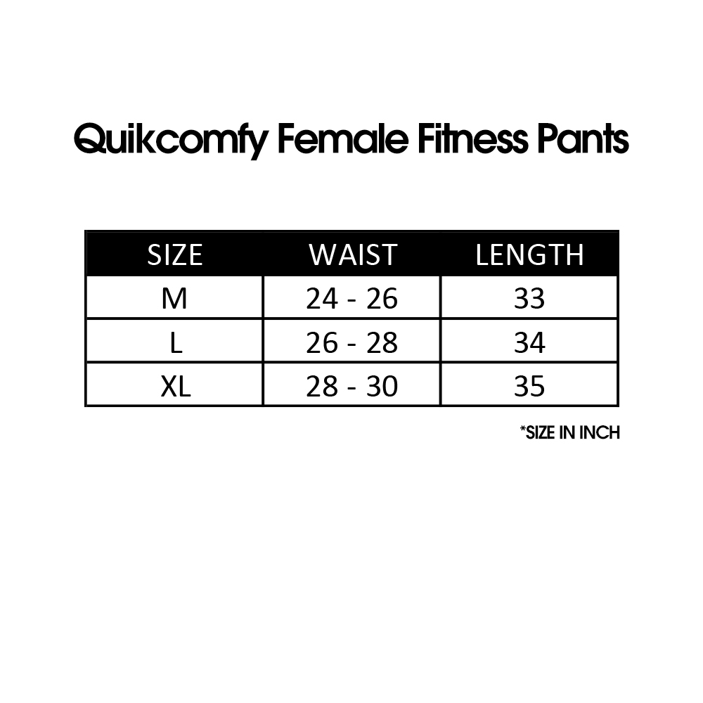 Quikcomfy Female Fitness Pants, Yoga, Fitness, Durable, Comfort, Fashion