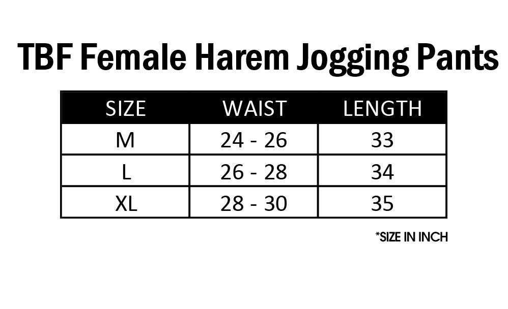 TBF Female Harem Jogging Pants, exercise, gym, running, jalan, berlari, seluar loose, sukan, wanita, elastic, comfortable, long pant