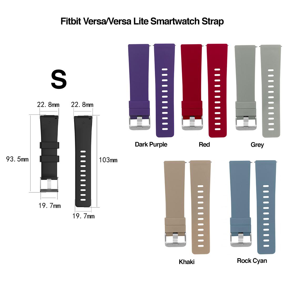 Fitbit Versa/Versa Lite Waterproof Smartwatch Strap, tali jam, unisex, band, bracelet, jam tangan, women, travel, replacement, adjustable