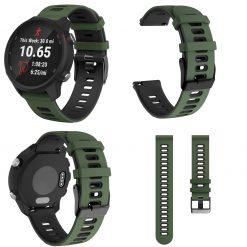Garmin Forerunner 245M Smartwatch Strap Army Green 1