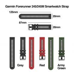 Garmin Forerunner 245M Smartwatch Strap Size