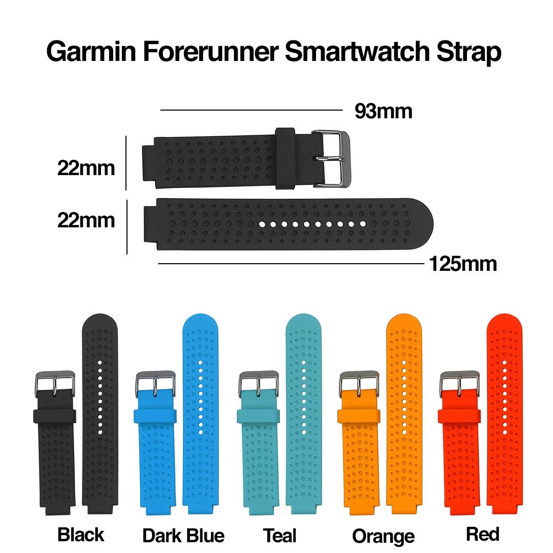 GARMIN Forerunner Smartwatch Strap, tali jam, unisex, women, silicone, plastic, adjustable, water resistant