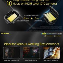 NITECORE NU35 LED Rechargeable Headlamp 2