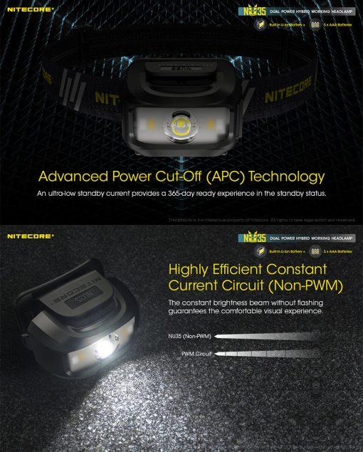 NITECORE NU35 LED Rechargeable Headlamp 8