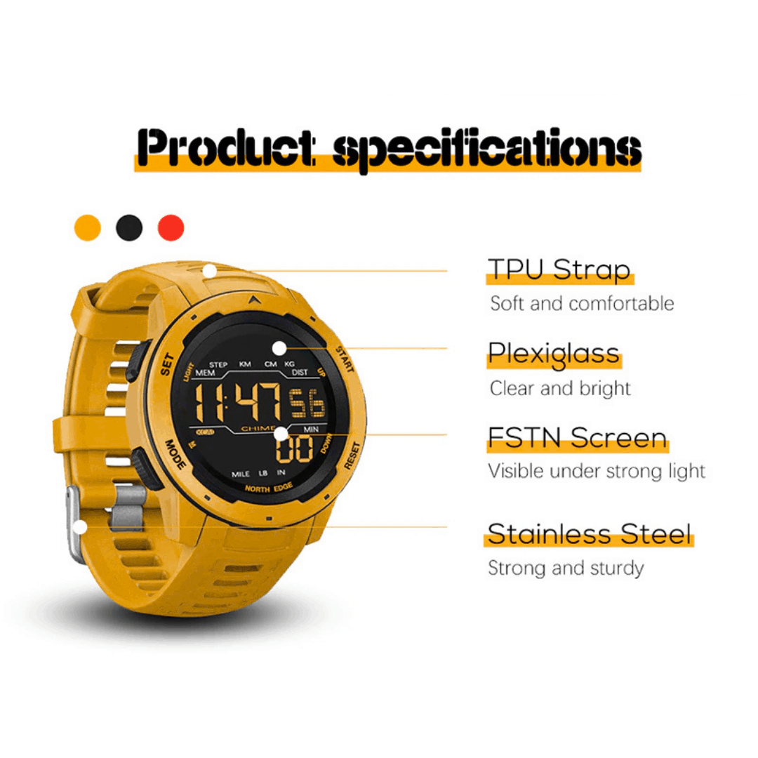 NORTH EDGE Mars Smartwatch, Smartwatch, Smartwatches, Best Smartwatches, Smartwatch Malaysia, Jam Pintar Malaysia, North Edge Watch, North Edge Malaysia, Fitness Watch