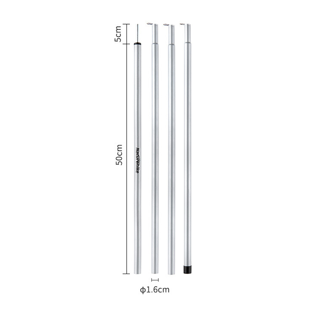 NATUREHIKE Outdoor Camping Tent Poles Support, tiang khemah, stand tent, foldable, 4 sections, lipat