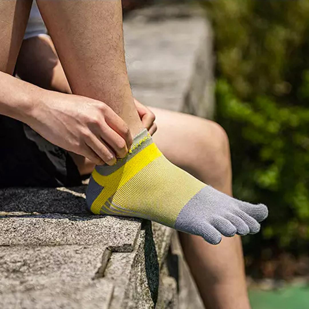 NATUREHIKE Quick Dry Running Toe Socks, natural separate toe sock, five finger, mesh, comfortable, breathable, running, hiking, marathon, cycling, stoking, pendek, short