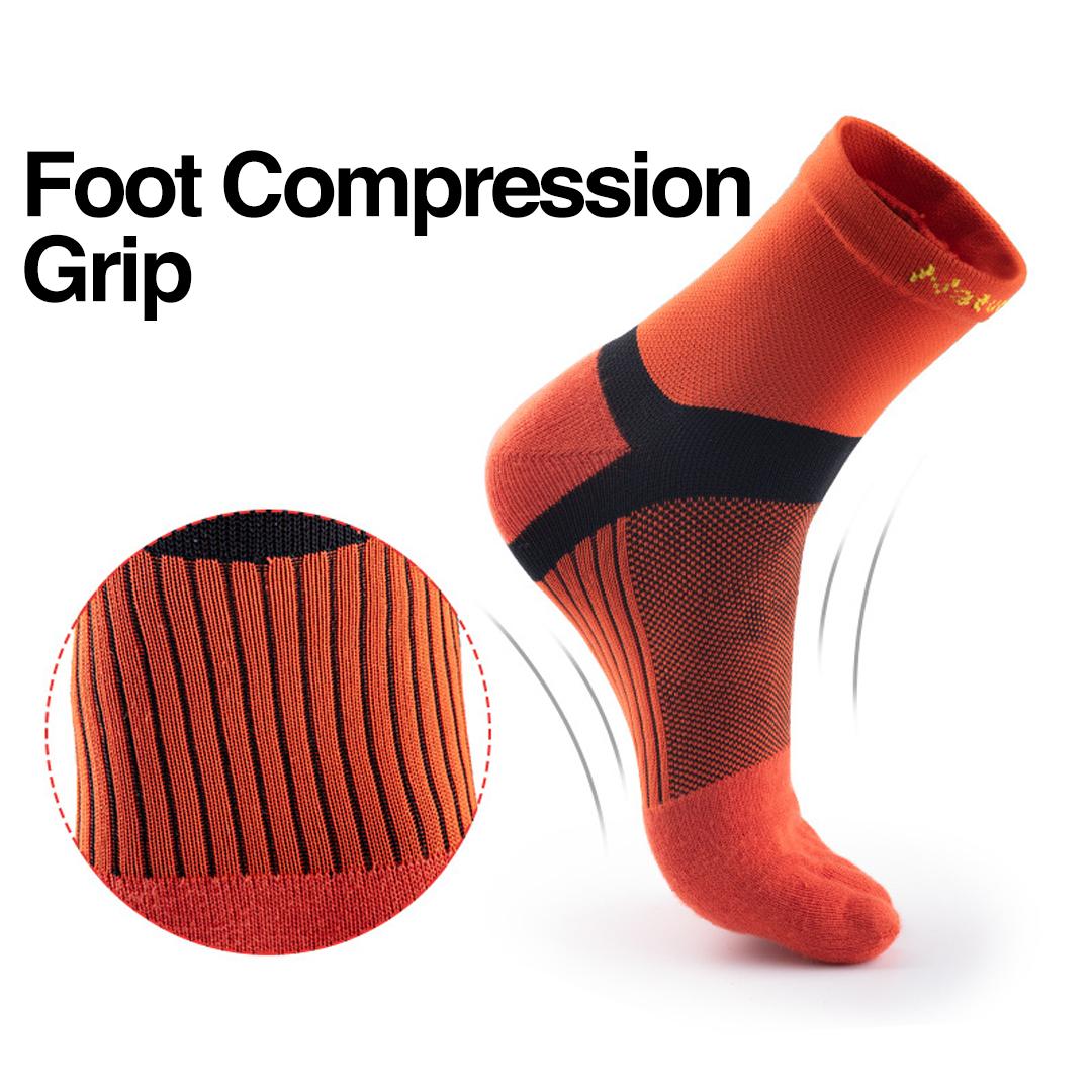 NATUREHIKE Quick Dry Running Toe Socks, natural separate toe sock, five finger, mesh, comfortable, breathable, running, hiking, marathon, cycling, stoking, pendek, short, quick dry