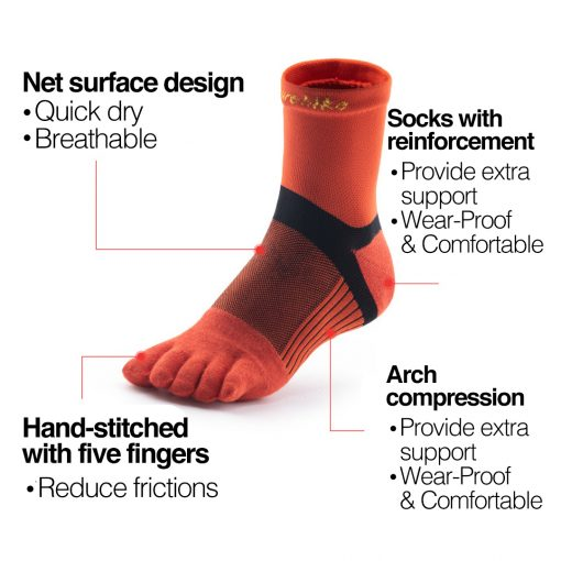 Naturehike Quick Dry Running Toe Socks 5