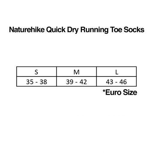 Naturehike Quick Dry Running Toe Socks Size