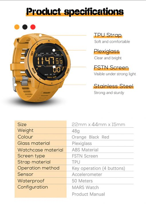 North Edge Mars Smartwatch 8