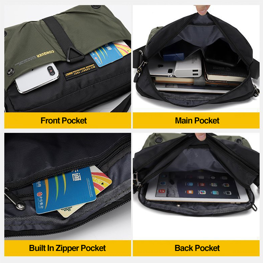 TAHAN CONQUER Multipurpose Sling Bag, Water-resistant, travelling bag, Stylish, Handsome,
