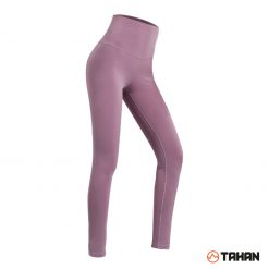 TAHAN Female High Waist Yoga Legging Dark Pink