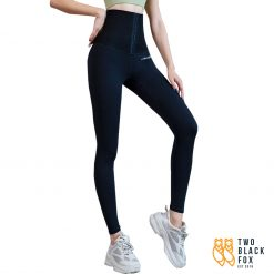 TBF Female Yoga Legging with Corset Jet Black