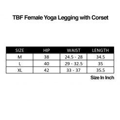 TBF Female Yoga Legging with Corset SC