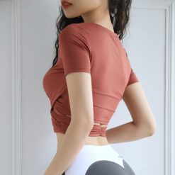 TBF Fitness Crop Top Yoga Shirt 2
