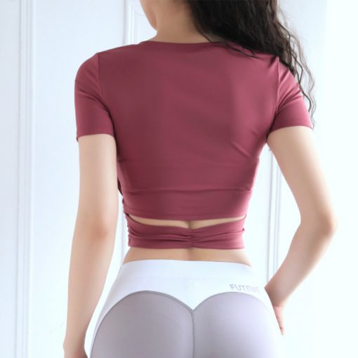 TBF Fitness Crop Top Yoga Shirt 4