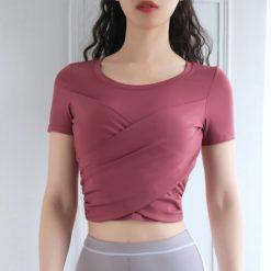 TBF Fitness Crop Top Yoga Shirt 5