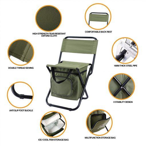 TBF Portable Fishing Chair with Storage Box 5