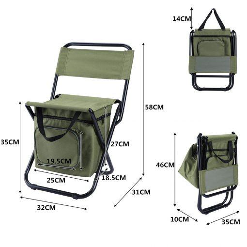 TBF Portable Fishing Chair with Storage Box 6