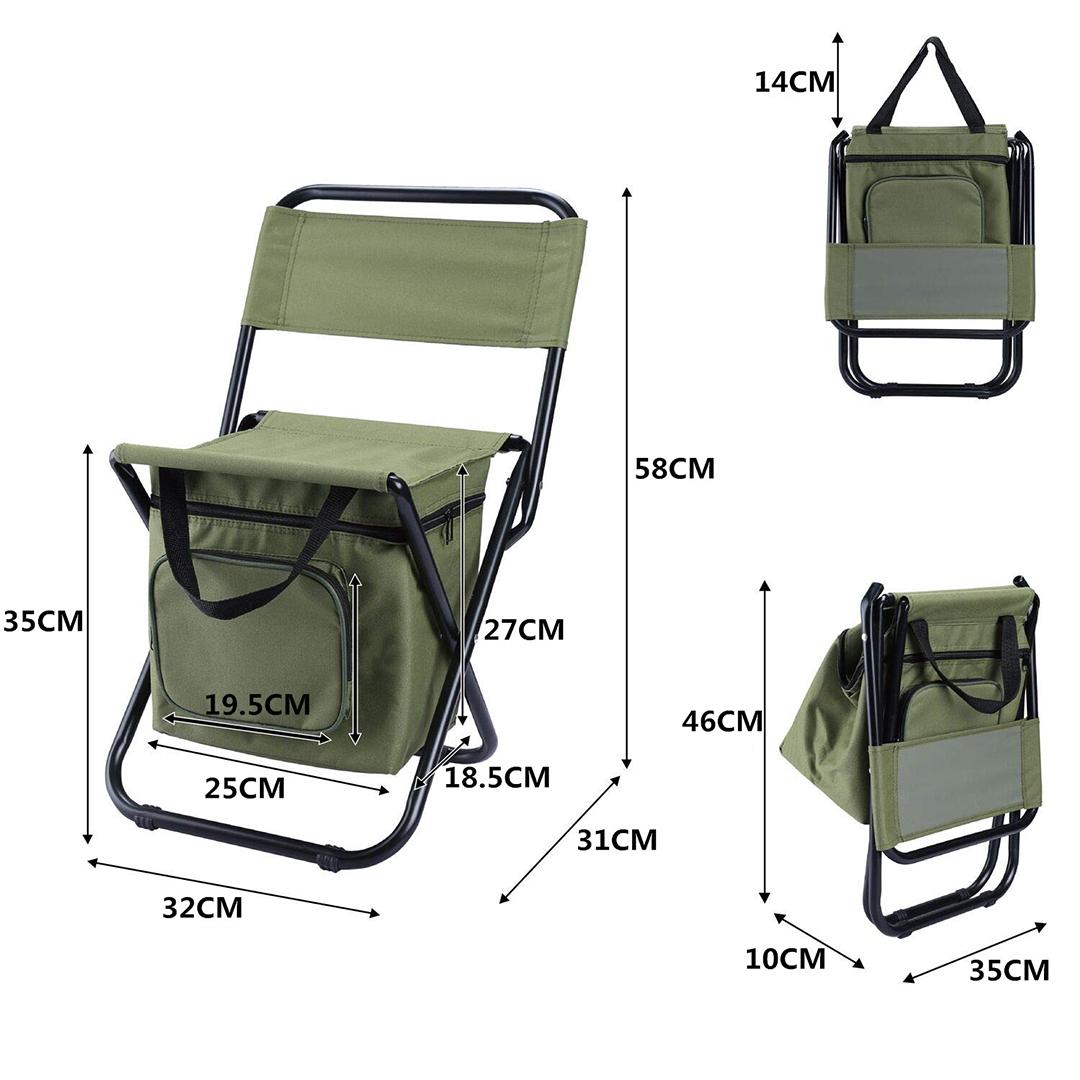 TBF Portable Fishing Chair with Storage Bag, TBF, kaki joran, JarangTakKumpau, UmpanPower