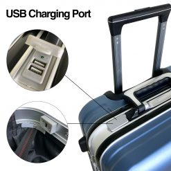 TBF Portable Travel Luggage with USB Charge 24 8
