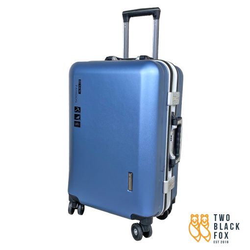 TBF Portable Travel Luggage with USB Charge 24 Blue