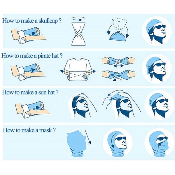 Multipurpose Outdoor Bandana, bandana, headband, head scarf, skaf, kepala, cover, tengkuk, pelitup mulut dan tengkuk, pelitup muka, face mask and neck