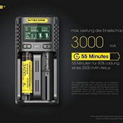 Nitecore UMS2 USB Universal 2-Port Speedy Smart Battery Charger for Li-Ion/Ni-MH/Ni-Cd/IMR 26650 22650 21700 20700 18650 18490 18350 17670 17500 17335 16340 RCR123 14500 10440 AA AAA AAAA C D Batterie