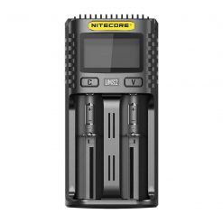 Nitecore UMS2 USB Universal 2-Port Speedy Smart Battery Charger for Li-Ion/Ni-MH/Ni-Cd/IMR 26650 22650 21700 20700 18650 18490 18350 17670 17500 17335 16340 RCR123 14500 10440 AA AAA AAAA C D Batterie