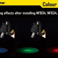 Nitecore NFR34/NFG34/NFB34/NFD34 Flashlight Filter suitable for the flashlight with head of 34mm