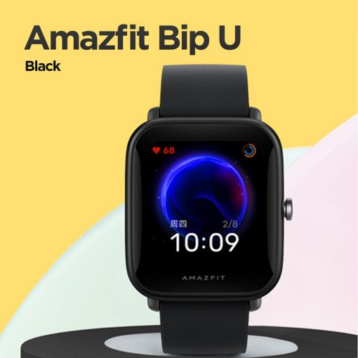 New Amazfit Bip U Smartwatch Color Display GLONASS Sleep Monitoring Sport Tracking 5ATM Water Resistant for Android