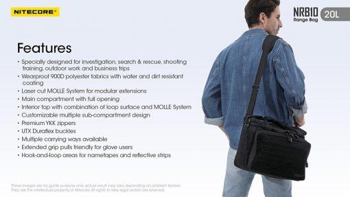 NITECORE NRB10 20L Multi Purpose Shoulder Bag 12
