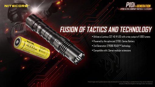 NITECORE P10i Rechargeable Flashlight 6