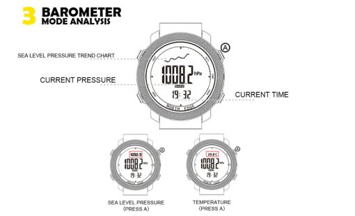 North Edge Apache Smartwatch 9