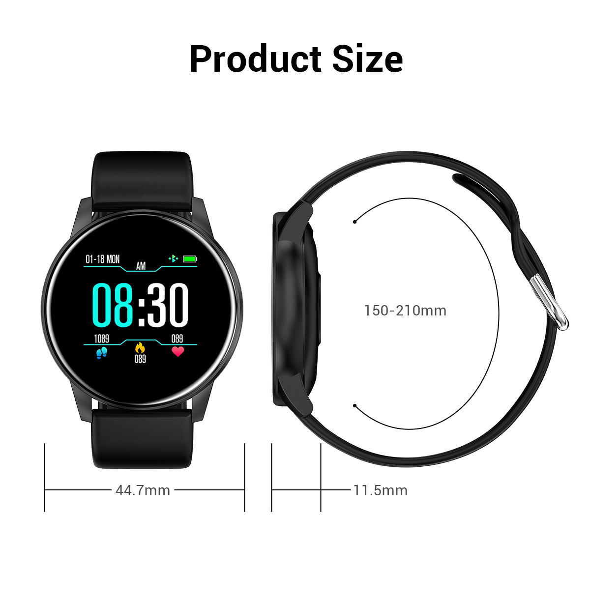 NORTH EDGE NL01 Smartwatch, jam tangan, Men Smart Watch ECG Heart Rate Blood Pressure Bluetooth For Android IOS Sports Watches Fitness Tracker, wristband, bracelet