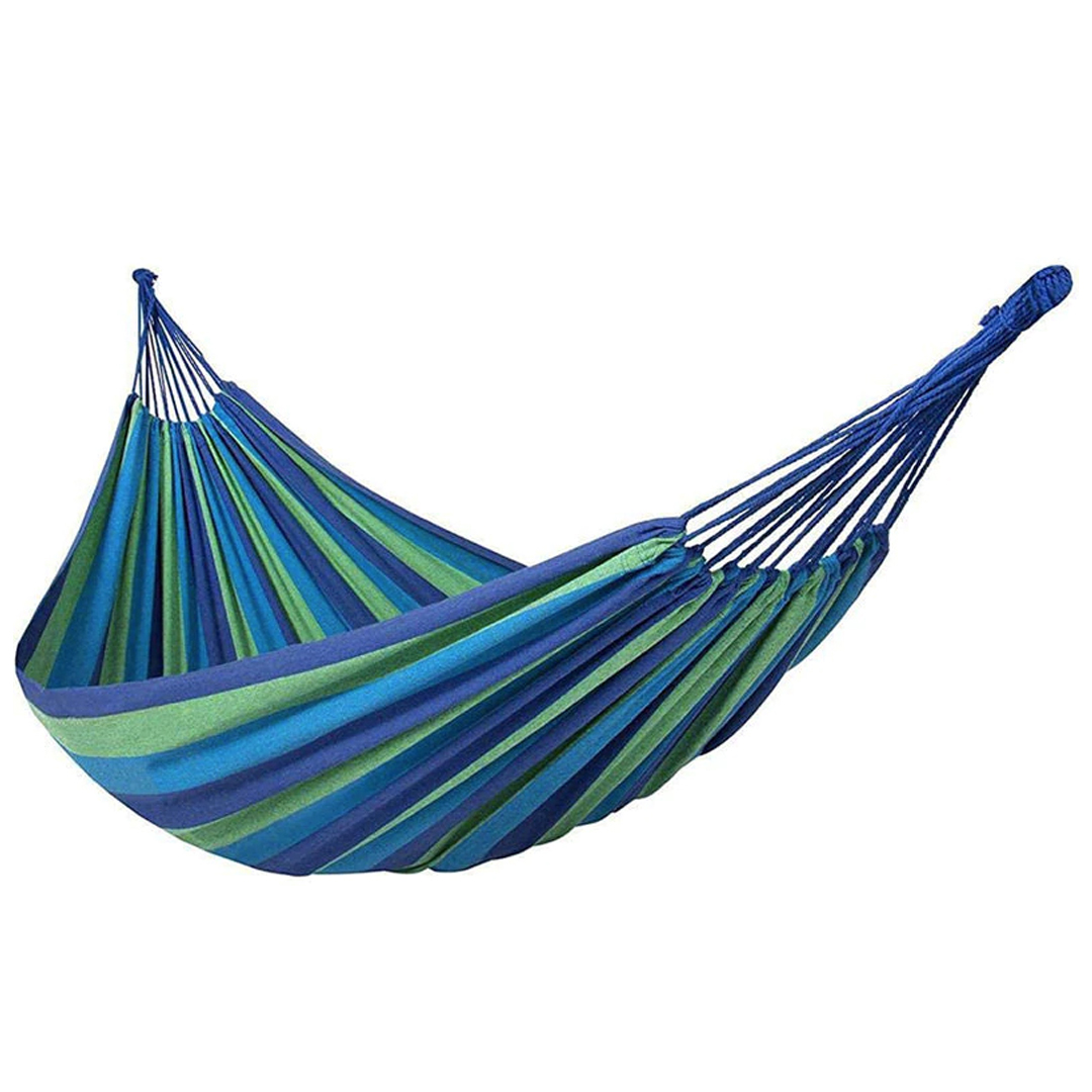 Outdoor Rainbow Hammock, Travel, single, double, widen, rainbow striped canvas, cotton, elderly, swing, children, casual hammock outdoor, fit 2 person, lightweight, buai laju laju, buai pokok, ikat buai, tie to tree hammock, long last