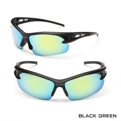 Robesbon Outdoor Sport Sunglasses Black Green 1