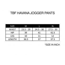 TBF Havana Jogger Pants Size