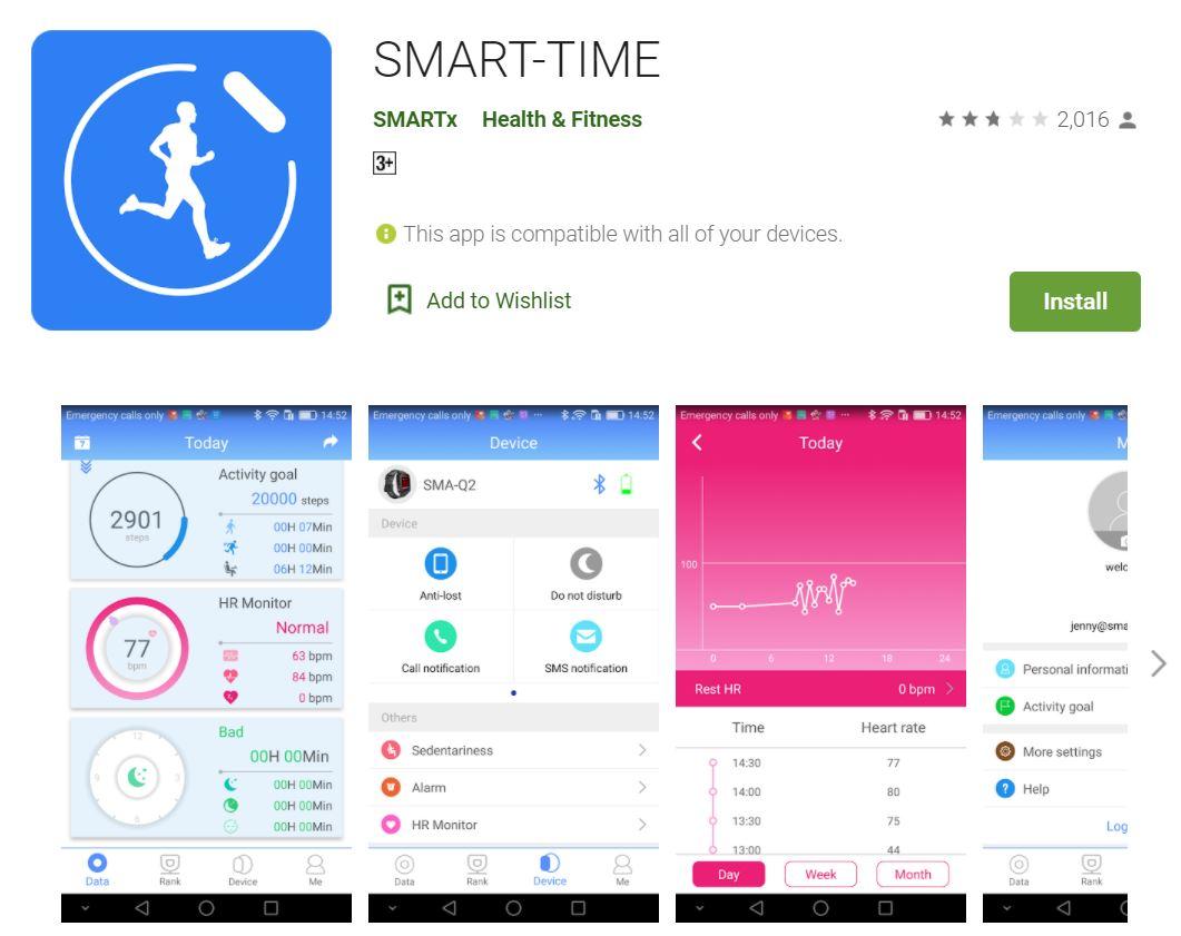 NORTH EDGE Cross Fit 2 Smartwatch, jam tangan, wristband, bracelet, smartphone, alarm, heart rate, step count