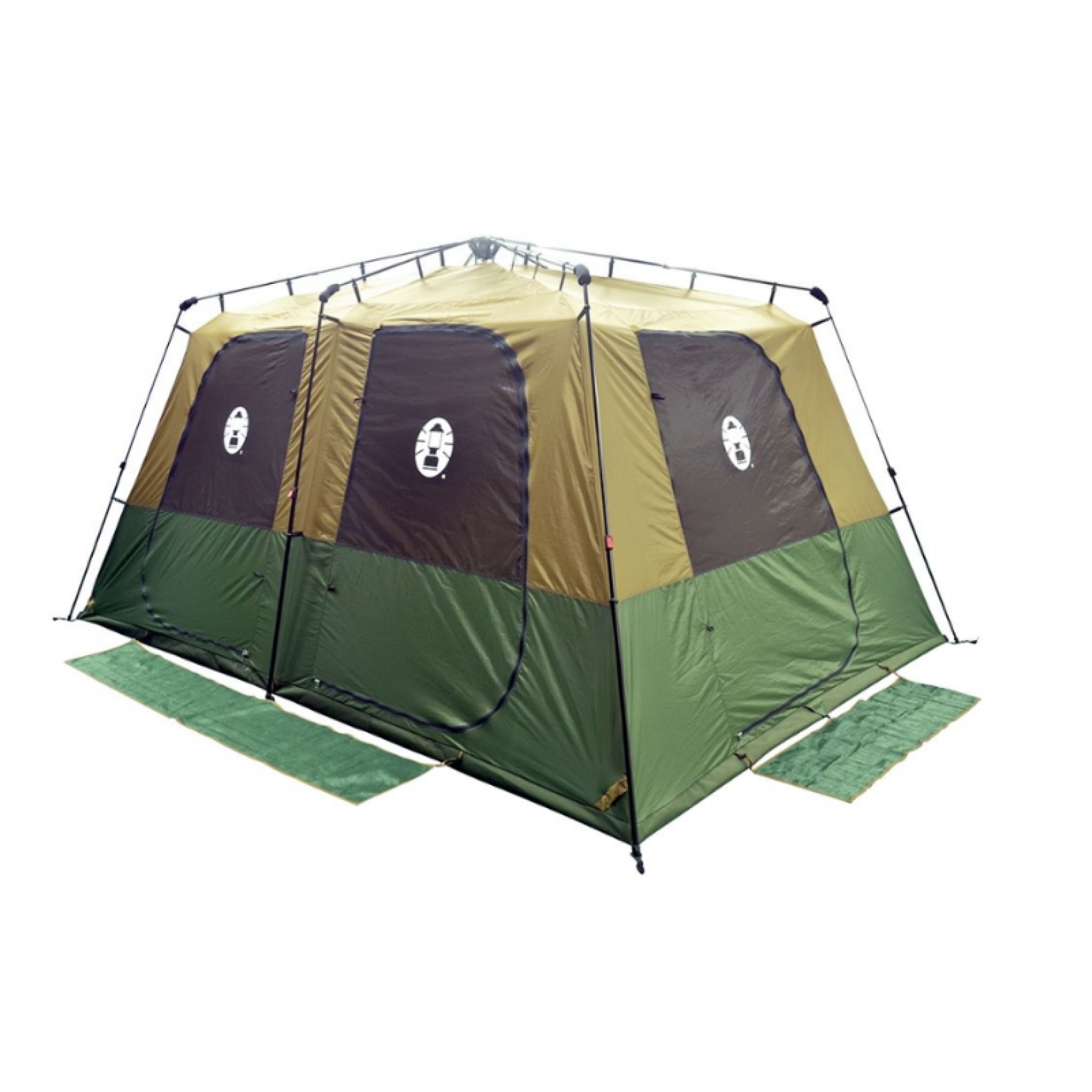 COLEMAN Instant Up Gold Series 10P Tent ; Space for 3 queen airbeds ; Integrated frame for easy pitching