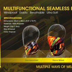 NITECORE Multifunctional Seamless Bandana, bandana, bandana scarf, bandana headband, head bandana, bandana for men