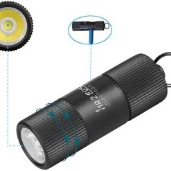 Olight I1R 2 Eos 150 Lumens Tiny Rechargeable Keychain Light LED Flashlight with Built-in Battery and Micro USB Charging Cable (Color1: Desert Tan)