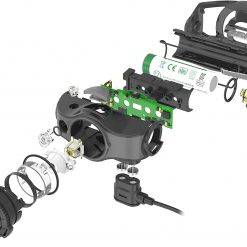 Ledlenser, MH4 Lightweight Multipurpose Rechargeable Headlamp with Removable Lamp Head and Metal Pocketclip, High Power LED, 400 Lumens, IP54, Hunting and Fishing