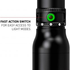 Ledlenser, P5R Core Rechargeable Flashlight, 500 Lumens, Advanced Focus System, Constant Light Output, Magnetic Charge System, Waterproof, Dustproof, Ledlenser Connecting System