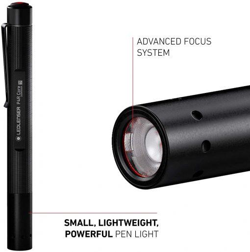 Ledlenser, P2R Core Rechargeable Pen Light, 120 Lumens, Advanced Focus System